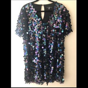 Sequin V-neck Party Dress